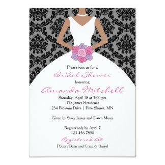 Bride & Bouquet Bridal Shower Invitations │ Pink