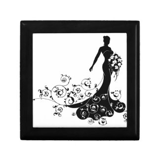 Bride Bouquet Wedding Silhouette Abstract Gift Box