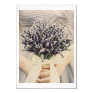 BRIDE/BRIDAL BOUQUET WEDDING INVITATION