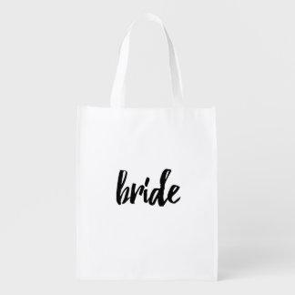 Bride Bridal Party Reusable Bag - Wedding