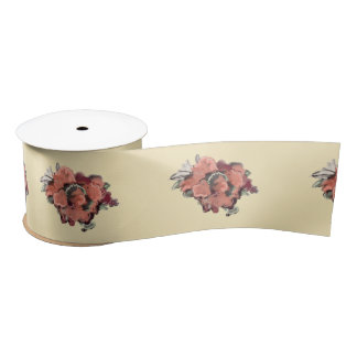 Bride Bridal Shower Pastel Rose Simple Modern Satin Ribbon