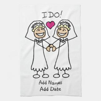 Bride-Bride I Do Tea Towel