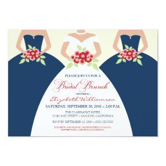 Bride & Bridesmaids Bridal Brunch Invite (navy)