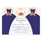 Bride & Bridesmaids Bridal Luncheon Invite (navy)