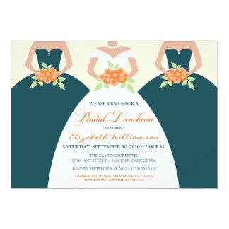 Bride & Bridesmaids Bridal Luncheon Invite (teal)