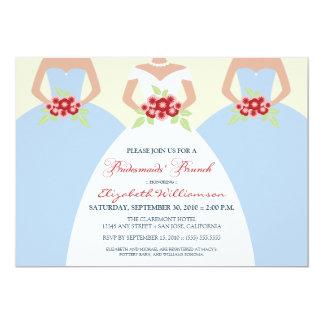 Bride & Bridesmaids' Brunch Invite (sky blue)