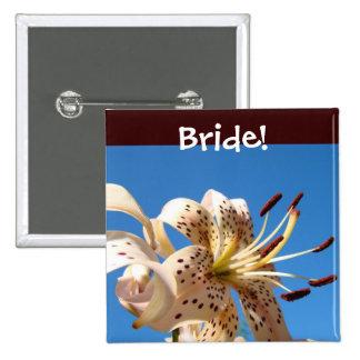 Bride buttons Wedding Party button Bridesmaids