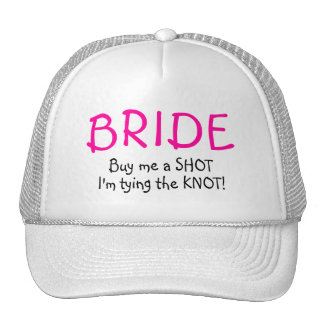 Bride (Buy Me A Shot Im Tying The Knot) Mesh Hats