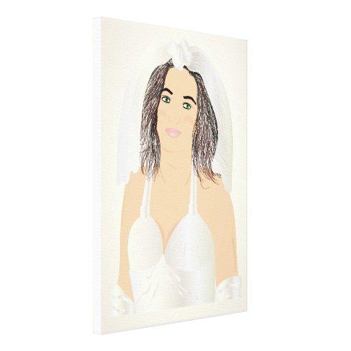 bride gallery wrap canvas