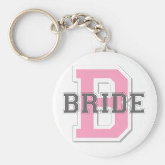 Bride Cheer Basic Round Button Key Ring