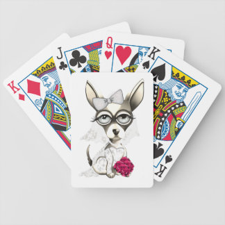 Bride Chihuahua Bicycle Playing Cards