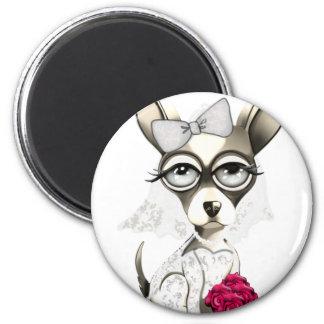 Bride Chihuahua Magnet