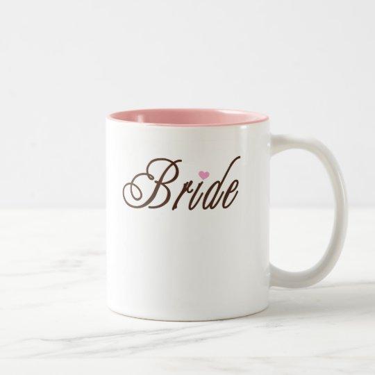Bride Classy Browns Two-Tone Coffee Mug