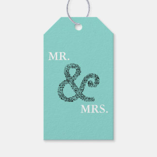 BRIDE & CO Autumn Wedding Mr & Mrs Party Gift Tags
