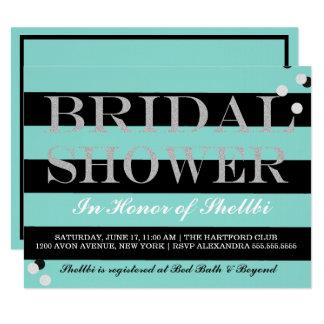 BRIDE & CO Black & Tiffany Blue Bridal Shower Card