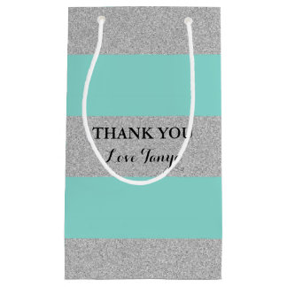 BRIDE & CO Blue And Silver Party Gift Bag