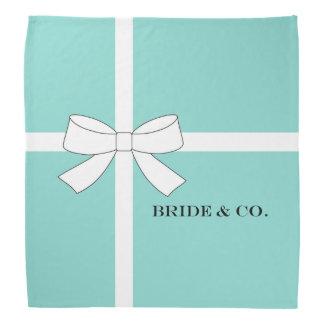 BRIDE & CO. Blue And White Personalize Bandanas
