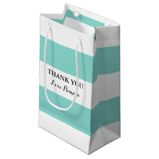 BRIDE & CO Blue And White Stripes Party Gift Bag