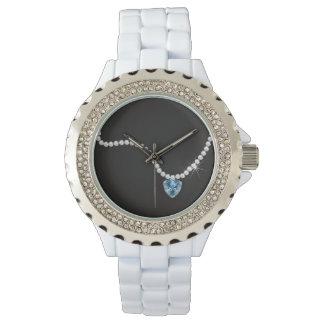 BRIDE & CO. Blue Diamond Sparkles Watch