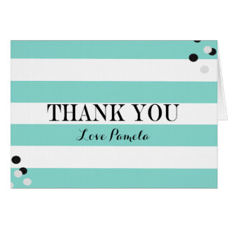 BRIDE & CO Blue & White Party Thank You Note Card