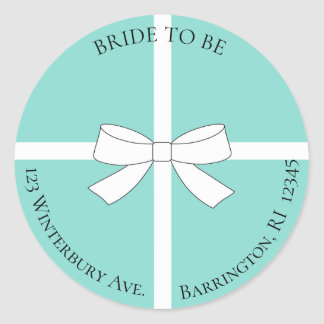 BRIDE & CO Bride To Be Address Party Stickers