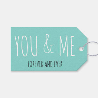 BRIDE & CO Forever You And Me Party Gift Tags
