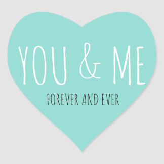 BRIDE & CO Forever You And Me Party Stickers