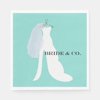 BRIDE & CO Here Comes The Bride Napkins Disposable Napkins