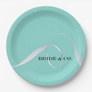 BRIDE & CO Personalize Ribbon Party Paper Plates