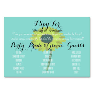 BRIDE & CO Photo I Spy Place Setting Table Cards
