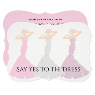 BRIDE & CO Pink Girl Bridal Shower Invitation