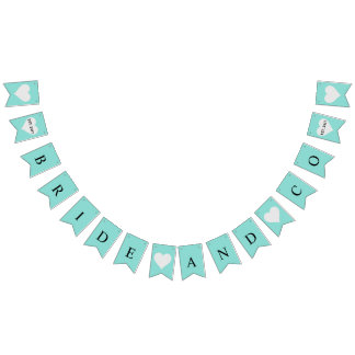 BRIDE & CO Shower Bride To Be Bunting Banner