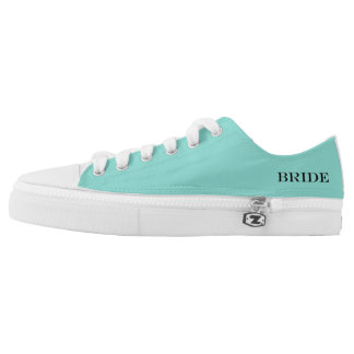 BRIDE & CO Shower Teal Blue Bride Wedding Sneakers