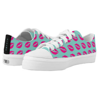 BRIDE & CO Shower Teal Blue Kiss Me Sneakers