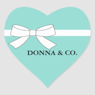BRIDE & CO. Teal Blue Tiffany Party Heart Stickers
