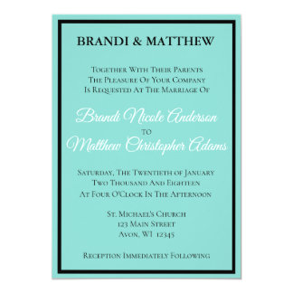 BRIDE & CO Teal Blue Wedding Suite Invitation