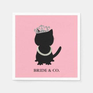 BRIDE & CO Tiara Party Tiffany Cat Party Napkins Paper Napkins