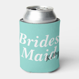 BRIDE & CO Tiffany Teal Blue Bridesmaid Can Cooler