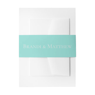 BRIDE & CO Traditional Wedding Suite Belly Bands Invitation Belly Band