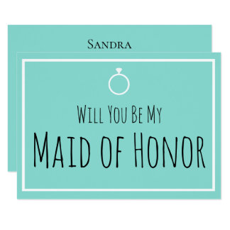 BRIDE & CO Will You Be My Bridesmaid Wedding Card
