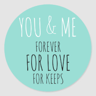 BRIDE & CO You And Me Forever Party Stickers