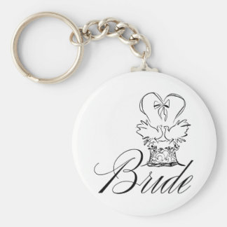 Bride Colors Basic Round Button Key Ring