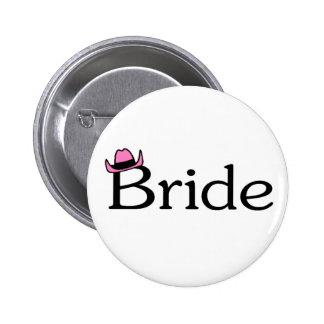 Bride (Cowboy Hat) 6 Cm Round Badge