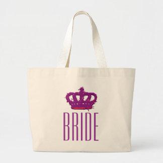 Bride Crown Jumbo Tote Bags