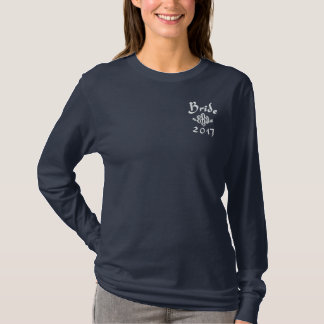 Bride Current Year - With Your Initials Embroidered Long Sleeve T-Shirt