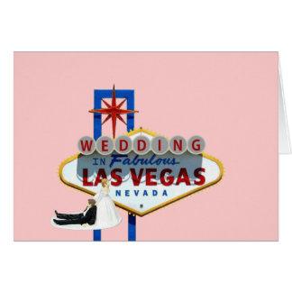 Bride dragging Groom to their Las Vegas Wedding Ca Card