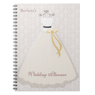 Bride dress silhouette Wedding Planner Notebook
