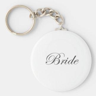 Bride Edwardian Basic Round Button Key Ring
