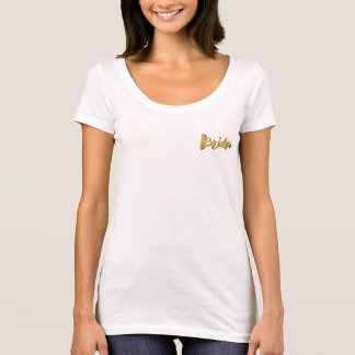 Bride Elegant Gold Look Typography Bridal T-Shirt