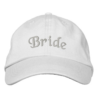 Bride Embroidered Cute Wedding Hat Baseball Cap